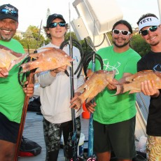 Rudy, AJ, Ediwin, and Dave with some nice hogs