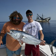 Jake Paul and TJ fishing off the Shrimp boats in Key West.  This was one of Jose's favorite ways to fish.