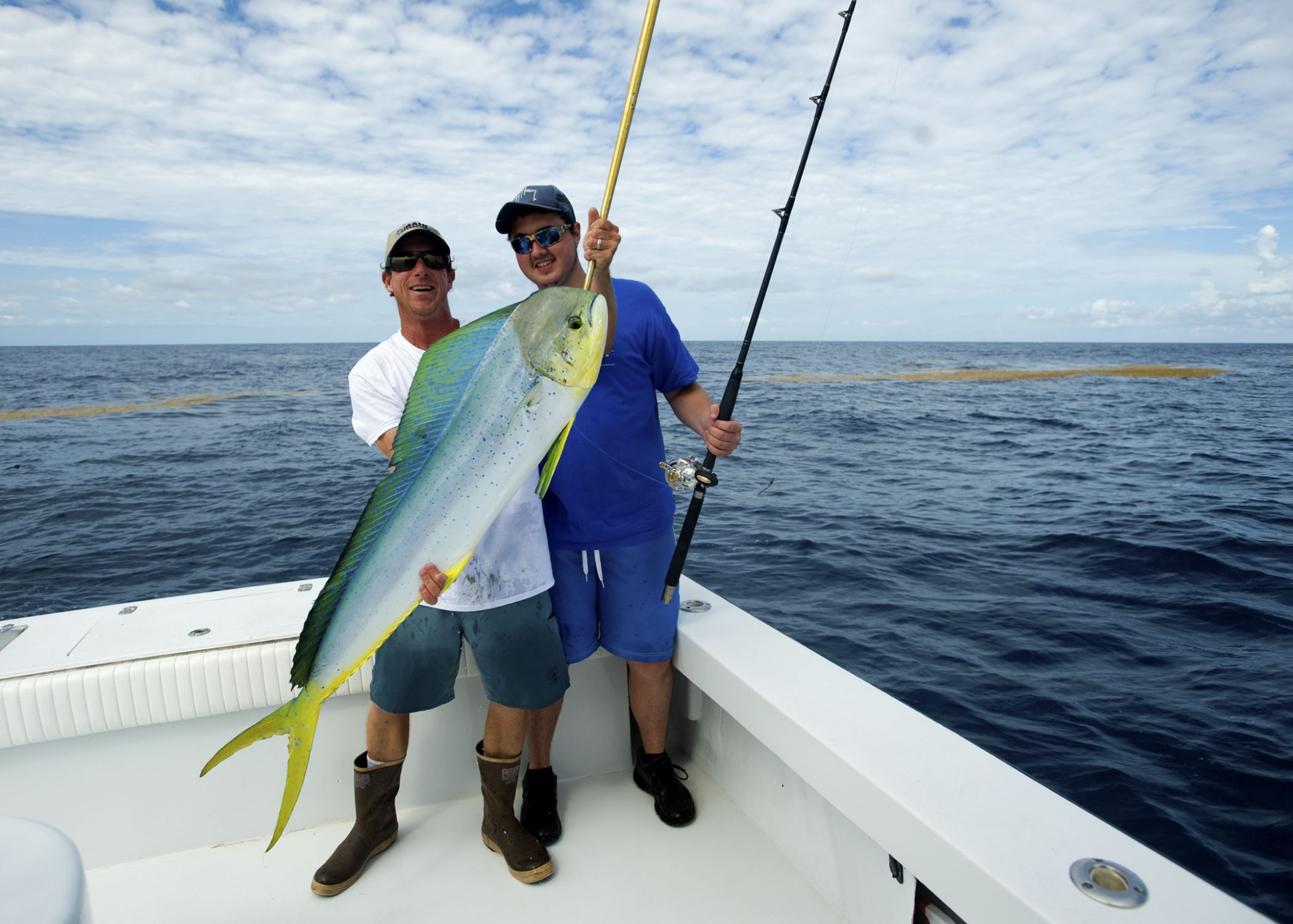 Did you know you can put a mahi in a saltwater brine to keep their color? Learn something new everyday!