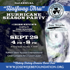 Halfway Thru Hurricane Season Benefit Party - Save the Date